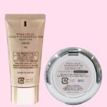 タイムシークレット ミネラルベース&UVパウダー ミディアムオークルセット(容器・裏面)