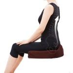 腰痛対策クッション ブラウン(イメージ2)