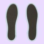 NO SOCKS SOLE STRIPE ストライプネイビー B S-M(本体裏面)