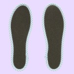 NO SOCKS SOLE STRIPE ストライプネイビー B M-L(本体裏面)