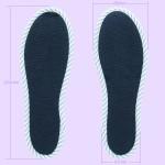 NO SOCKS SOLE STRIPE ストライプネイビー B M-L(本体寸法)