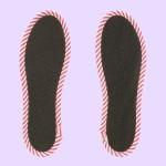 NO SOCKS SOLE STRIPE ストライプグレー P S-M(本体裏面)