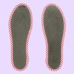 NO SOCKS SOLE STRIPE ストライプグレー P M-L(本体)