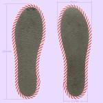 NO SOCKS SOLE STRIPE ストライプグレー P M-L(本体寸法)